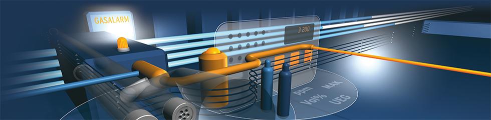 Gas Alarm Produkte Hintergrundbild